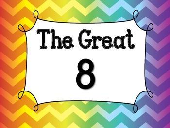 Rainbow Chevron The Great 8