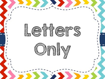Rainbow Chevron Word Wall Display (Letters Only)
