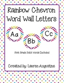 Rainbow Chevron Word Wall Pack