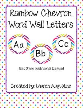 Rainbow Chevron Word Wall Pack