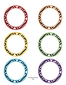 Rainbow Circle Labels