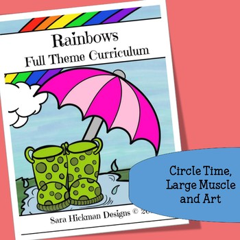 Rainbow Circle Time, Large Muscle and Art Activities for P