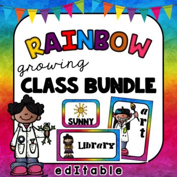 Rainbow Class Bundle- Editable