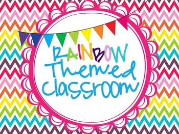 Rainbow Classroom Theme Set {Girly}