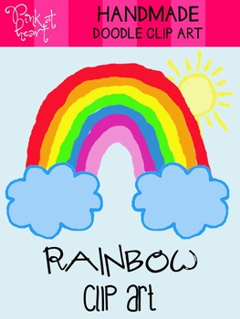 Rainbow Doodles Clip Art
