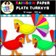 Rainbow Clip Art ● Paper Plate Turkeys ● Digital Images ●