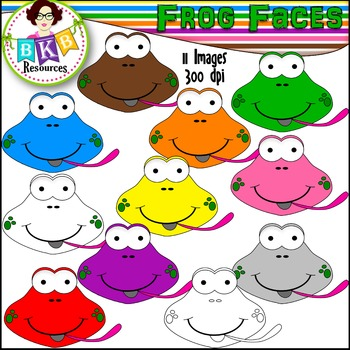 Rainbow Clipart ● Frog Faces ● Graphics ● Products for TpT