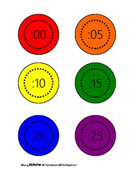 Rainbow Clock Labels
