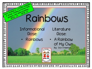 Close Reading- Informational text on Rainbows and Literatu