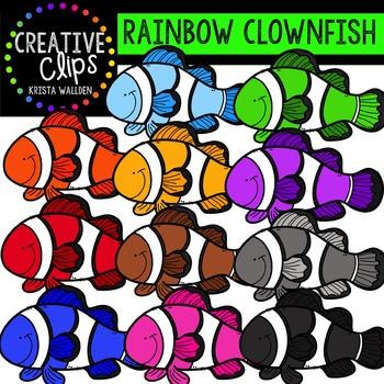 Rainbow Clownfish {Creative Clips Digital Clipart}