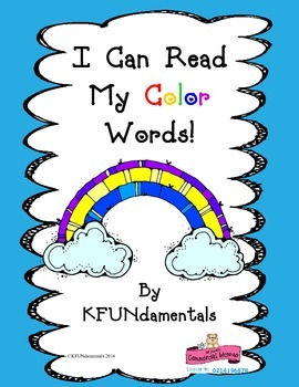Rainbow Color Sight Words : Spring , Open House , St. Patr