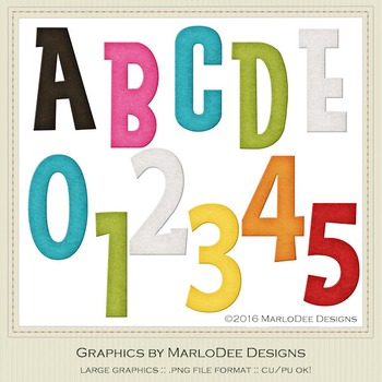 Rainbow Colors 4 Alpha & Number Graphics
