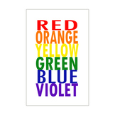 Rainbow Colors Poster 11x17 & 8.5x11 for the Art Room or C