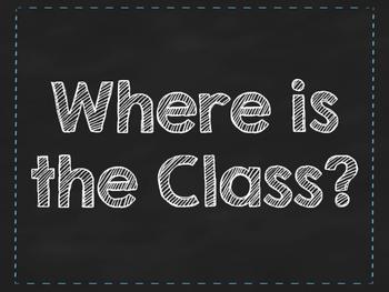 Rainbow Colors Where is the Class Classroom Chart. Classro