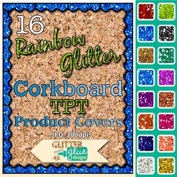 Corkboard Product Covers Clip Art {Design Teachers Pay Tea