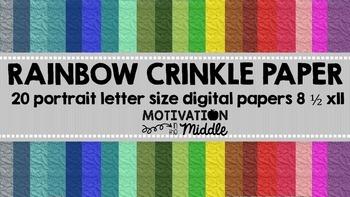 Rainbow Crinkle Digital Paper