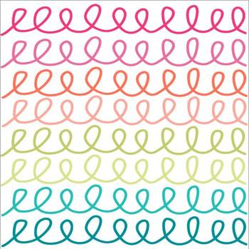 Rainbow Curls and Doodles { Digital Borders }