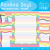 Rainbow Chevron Paper and Cover Pages
