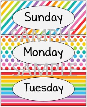 Rainbow - Days of the Week