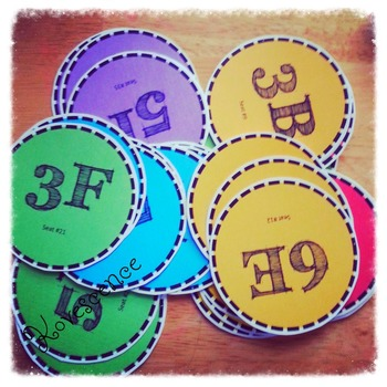 Rainbow Desk Labels for Groupings