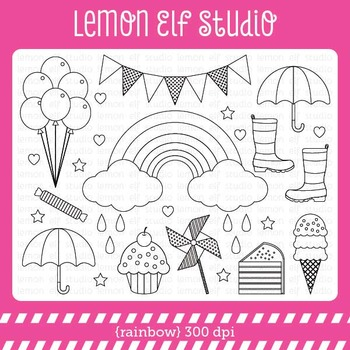Rainbow-Digital Stamp (LES.DS18)