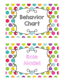 Rainbow Dot Behavior Chart
