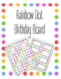 Rainbow Dot Birthday Bulletin Board