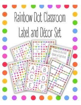Rainbow Dot Classroom Decor Set