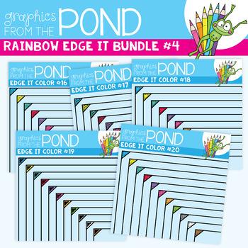 Rainbow Edge It Borders Mini Pack 4