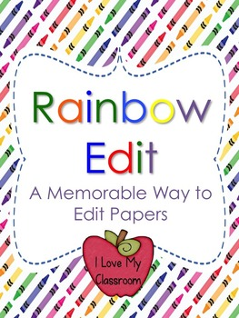 Rainbow Edit Writing Process