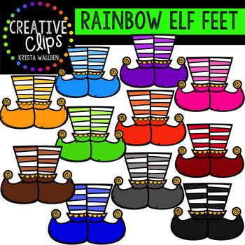 Rainbow Elf Clipart: Feet {Creative Clips Clipart}