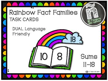 Rainbow Fact Families - Number Bonds - DUAL Language Friendly