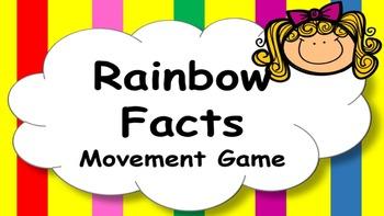 Rainbow Facts Addition Mental Maths Addition Game, Brain B