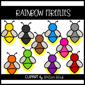 Rainbow Fireflies~ Clipart