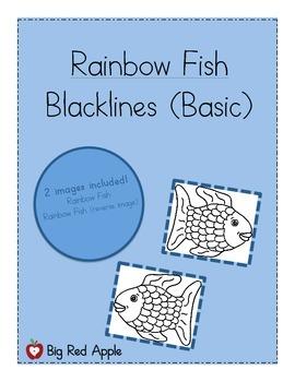 Rainbow Fish: Character Black Lines (Basic)