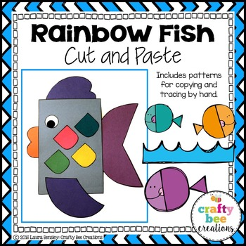 Rainbow Fish Cut and Paste