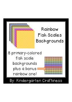 Rainbow Fish Scales Backgrounds