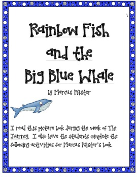 Rainbow Fish and the Big Blue Whale by Marcus Pfister Supp