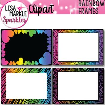 Colorful Rainbow Frames Clip Art