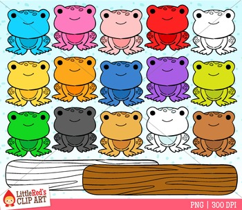 Rainbow Frogs Counter Clipart