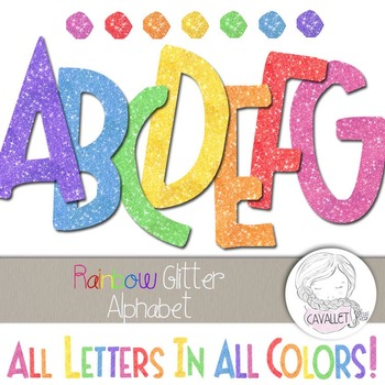 Glitter Alphabet Clip Art BUNDLE
