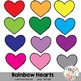 Rainbow Hearts Clipart {Graphics for Commercial Use}