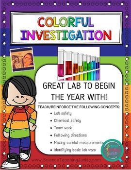 Colorful Investigation - Great for Back to School or First