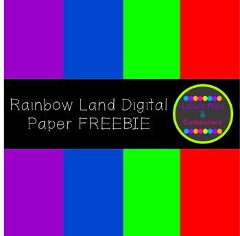 Rainbow Land Digital Paper Pack FREEBIE