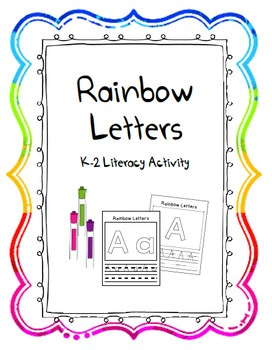 Rainbow Letter Writing