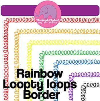 Rainbow Loopty Loop Borders - 8.5 x 11