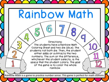Rainbow Math - Math Station Game