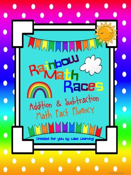 Math Fact Fluency for Addition and Subtraction:  Rainbow M