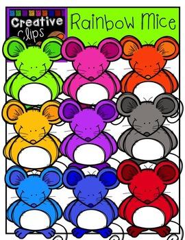 Rainbow Mice {Creative Clips Digital Clipart}