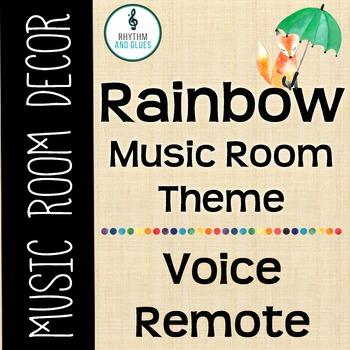 Rainbow Music Room Theme - Voice Remotes, Rhythm and Glues